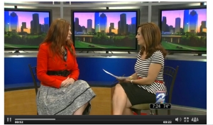 Talking wedding dress trends on KPRC for Modern Luxury Houston Brides Magazine.