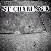 St. Charles Avenue Street Tiles, New Orleans, Louisiana, 2014