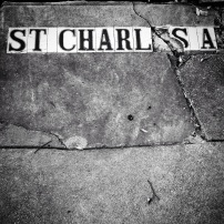 St. Charles Avenue Street Tiles, New Orleans, Louisiana, 2014