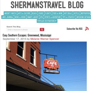 Easy Southern Escapes it the weekly column I pen about charming Southern towns for ShermansTravel.