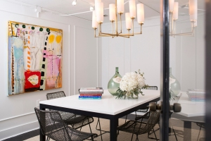 Check out the fabulous conference room at the new design studios of Marie Flanigan Interiors. Photo by Jill Hunter